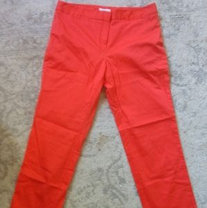 Charter club size 12 bright coral crop pants